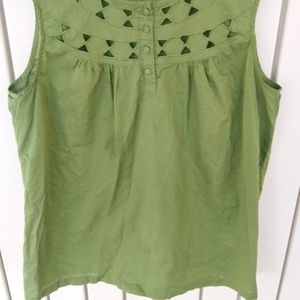 Apt. 9 Green Cut out Blouse